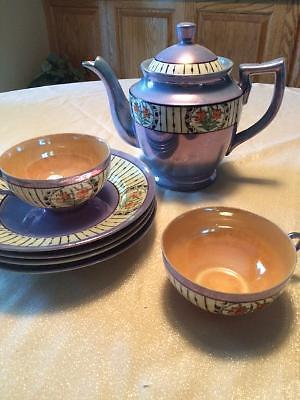 MY GRANDMA'S OLD TEASET (DEPRESSION ERA) IRREDESCENT - $20