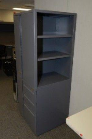 Haworth VTHE Personal Storage Tower / Cabinet with lock and key