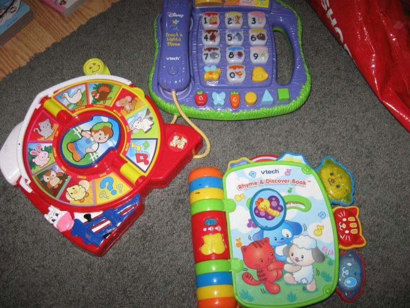 three electronic toy