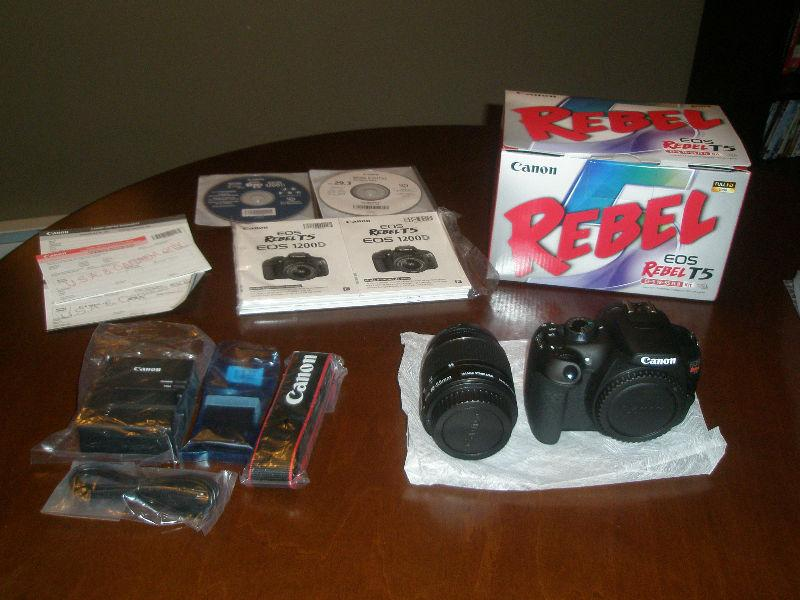 Canon EOS Rebel T5 18MP DSLR Camera with EF-S 18-55mm IS II Lens