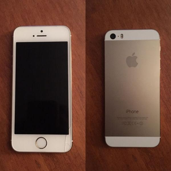For sale: iPhone 5S 32Gig Gold