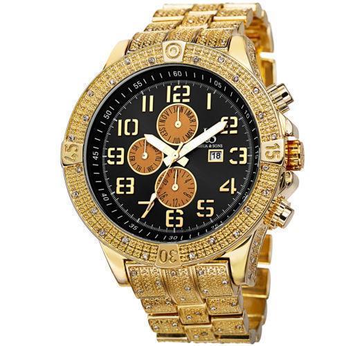 Men's Bold Swiss Multifunction Watch with Dazzling Bracelet