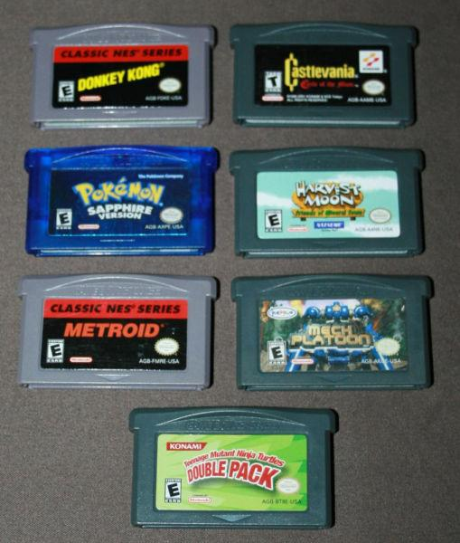 GameBoy Advance SP Console & GameBoy Advance Games