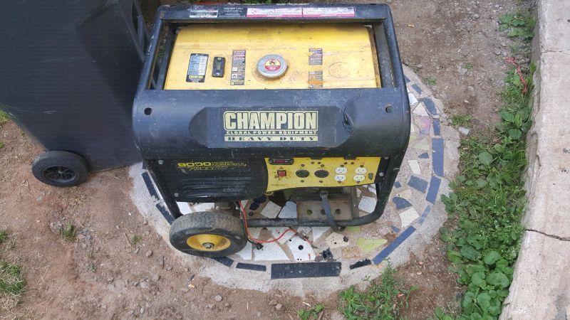 Champion 9000watt electric start generator 400 obo