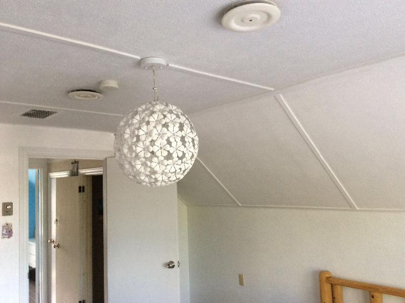 Flower chandelier, as new , MUST be sold; a real bargain!!