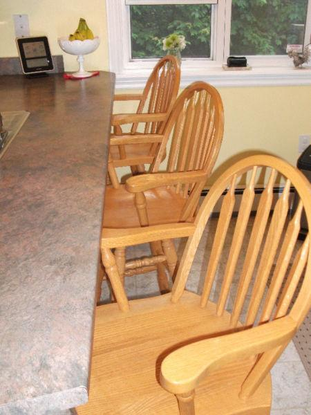 Oak Counter Chairs
