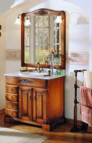 Italian design antique style bathroom vanity set