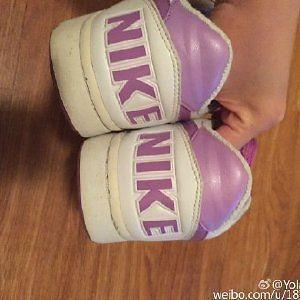 Nike Air force low, white and purple,summer colour
