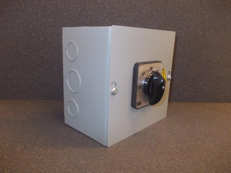 NEW Manual Transfer Switch - 5 Position Rotary Cam switch 60A