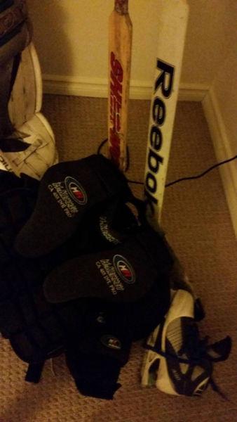 Cheap ice/road hockey goalie gear!