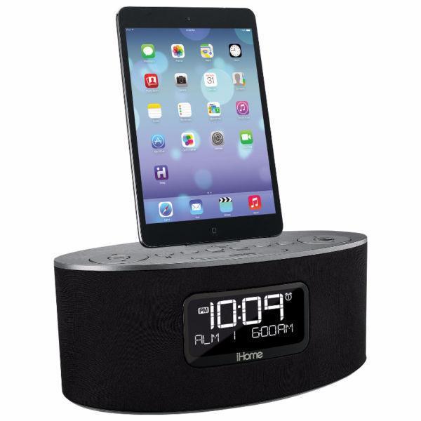 iHome iPhone/iPod Clock Radio Dock - Gunmetal