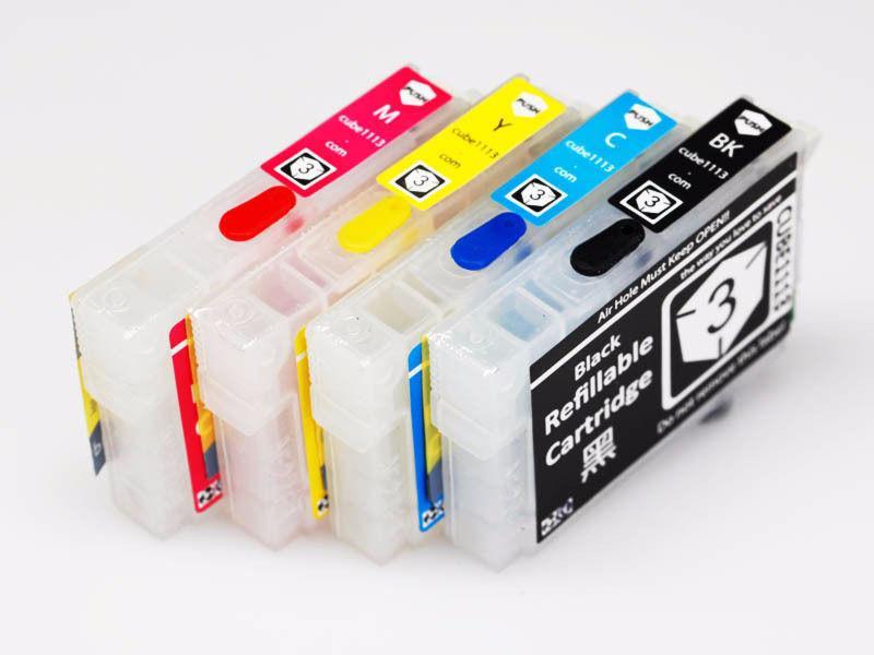 Refillable ink cartridge Kit for Epson T126 + 4 Bottles of Ink