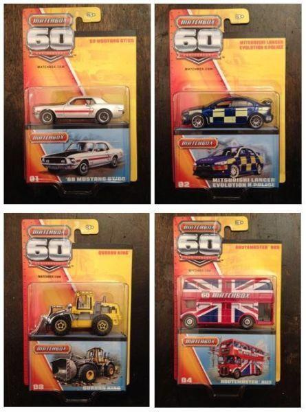 1:64 MATCHBOX 60th Anniversary Collection 24 Cars MIB