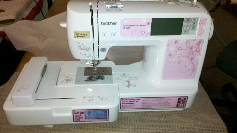 BROTHER PE500 - Machine à broder / broderie - Embroidery machine