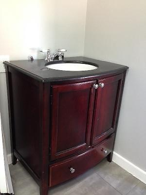 Granite counter top bathroom vanity