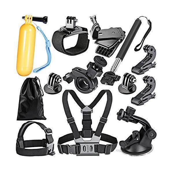 16-In1 Sport Accessory Kit for GoPro Hero4 Session Hero1 2 3 3+4