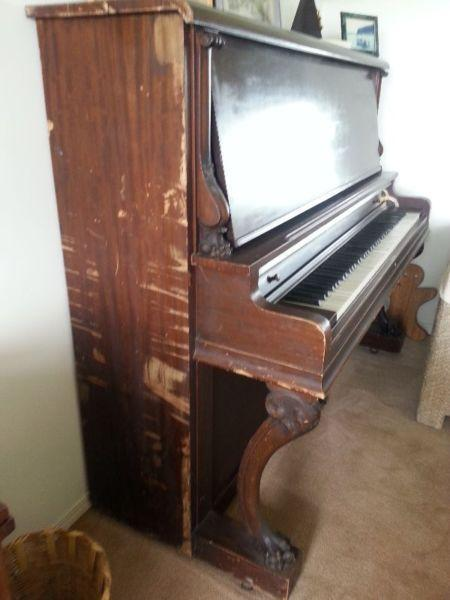 Upright Grand Piano - This is a diamond in the rough!