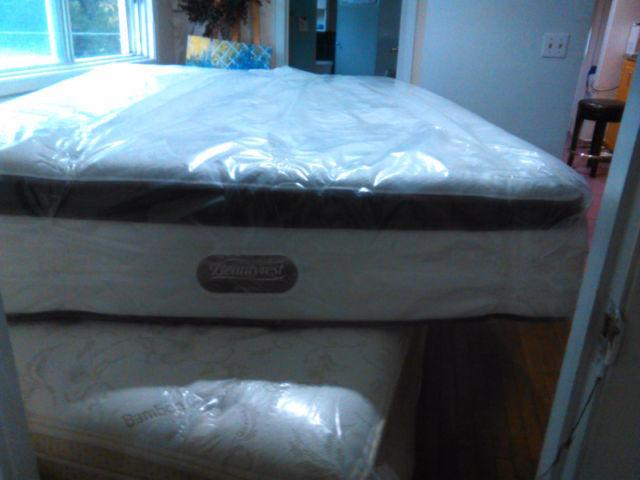 BRAND NEW queen SIZE SIMMONS BEAUTYREST CLASSIC--DELIVERY HRM