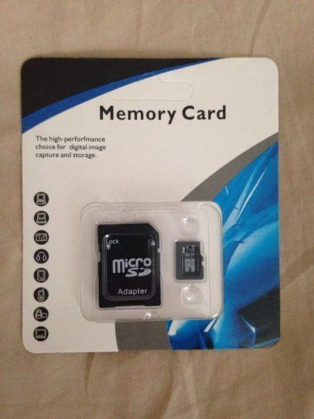 32gb micro sd card class 10 with adapter - brand new