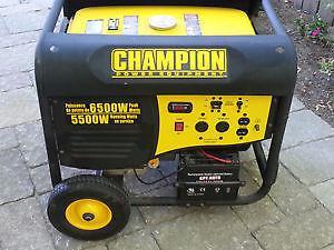 6500 W champion generator w Electric start
