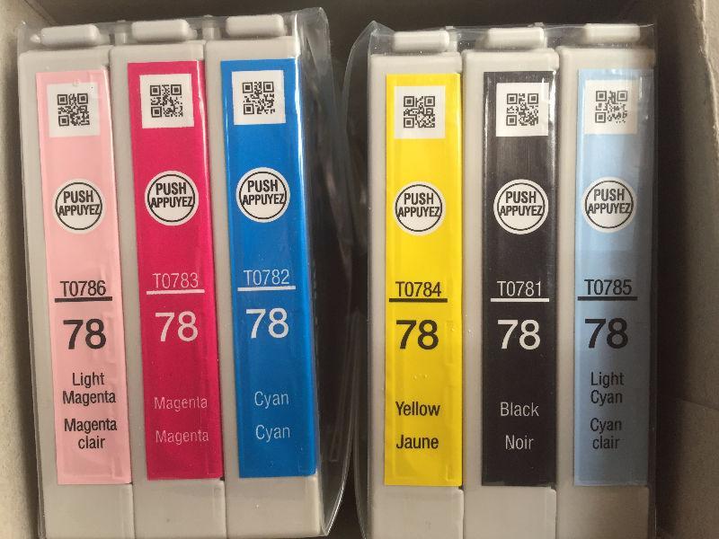 Genuine OEM Epson T78 T078 Cartridge Set, 6-color, Sealed!