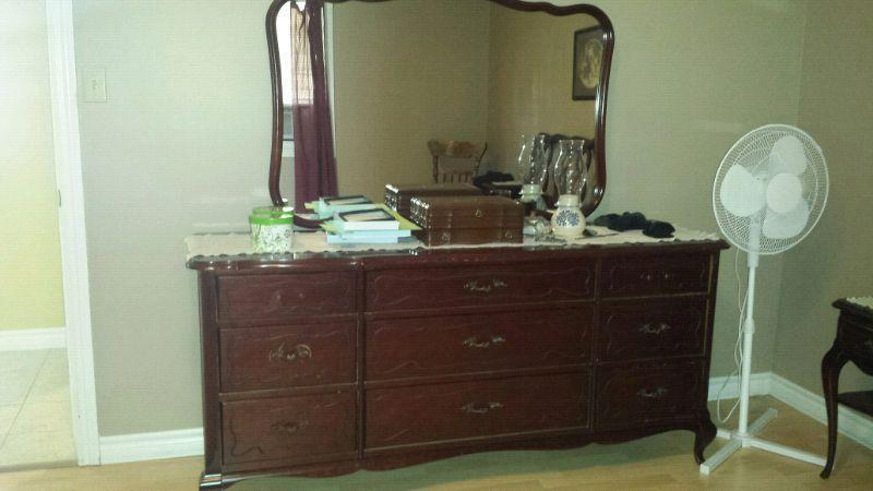 5 piece Gibbard solid Mahogany bedroom set