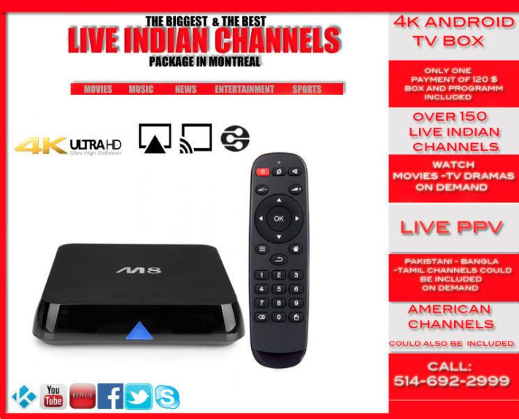 +KODI+4K ANDROID TV BOX-LIVE INDIAN CHANNELS- BETTER THEN JADOO