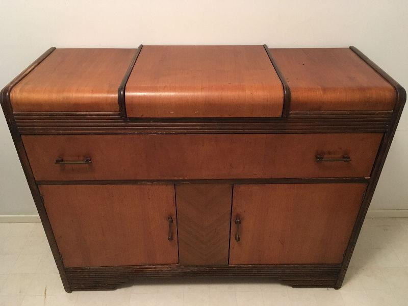 Antique table and buffet