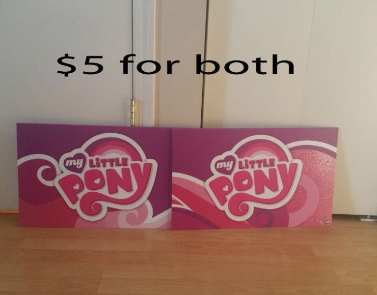 2 My Little Pony Plastic Signs