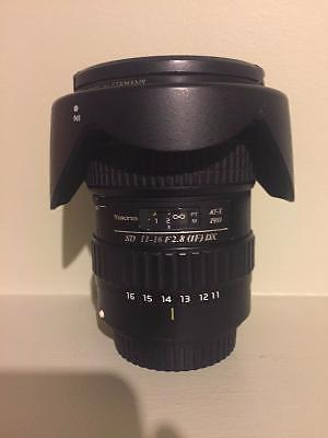 Price Reduced- Tokina 11-16mm 2.8F Like New Canon Lense