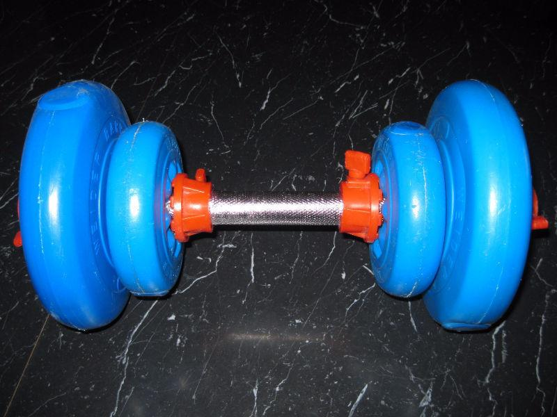 WEIDER BARBELL EXERCISE WEIGHTS EQUITMENT LIKE NEW