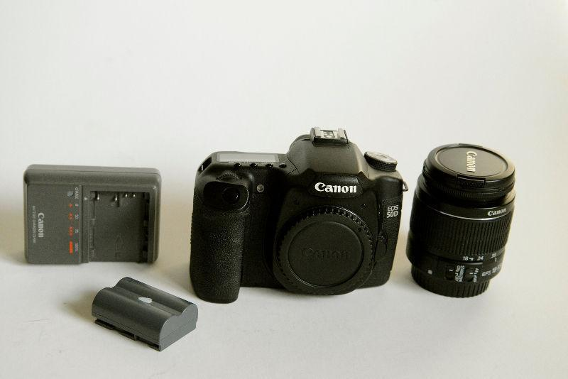 Canon 50D with 18-55 IS Lens