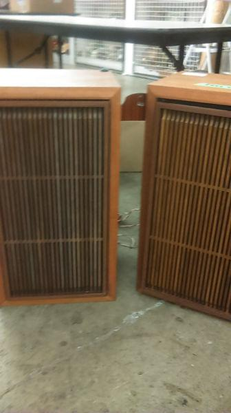 Mint vintage Harman AMX A5 3way 4sp fl speaker,wooden grill,RARE