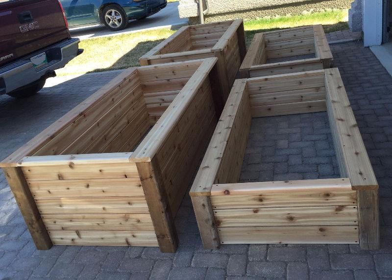 Custom made cedar planters