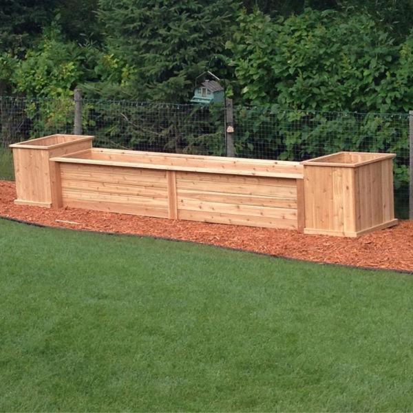 Custom cedar planters made just for you