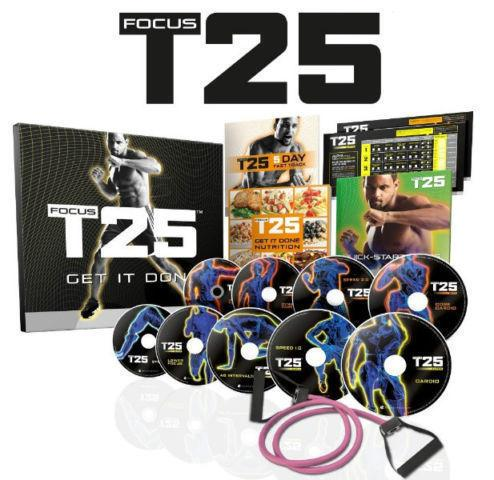 FOCUS T25, INSANITY, MAX30, P90X, CIZE * brand new and sealed *