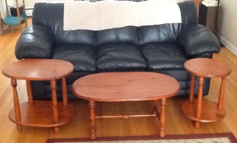 PINE COFFEE & End TABLES, also ANTIQUE STEP STOOL