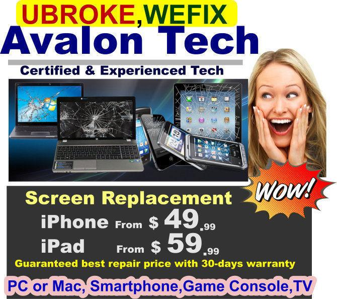 Repair iPhone, iPad, Tablet, Laptop Desktop Smartphones & more