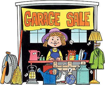 September 3 & 4, 2016 RAIN OR SHINE INSIDE GARAGE SALE 9AM-4PM