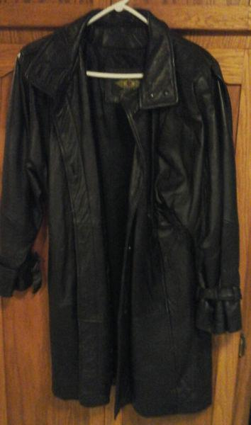 leather pant coat