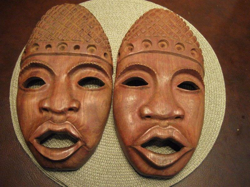 BEAUTIFUL HAND CARVED WOODEN MASKS