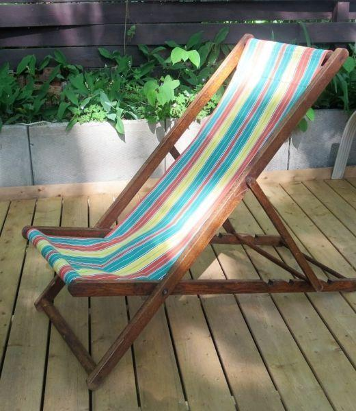 1920's Deck Lounge Chair