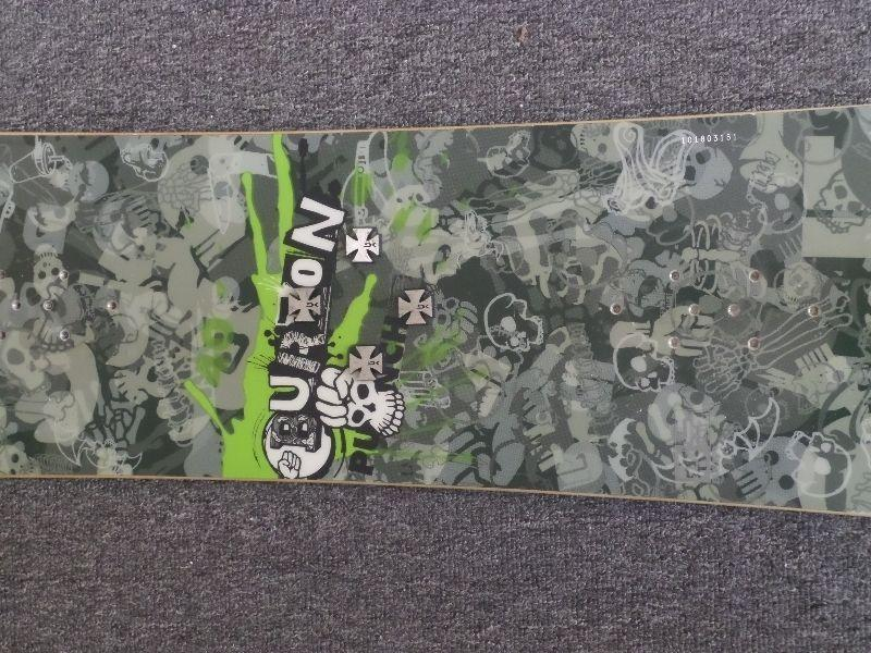 Burton Snowboard and men's size 9 boots