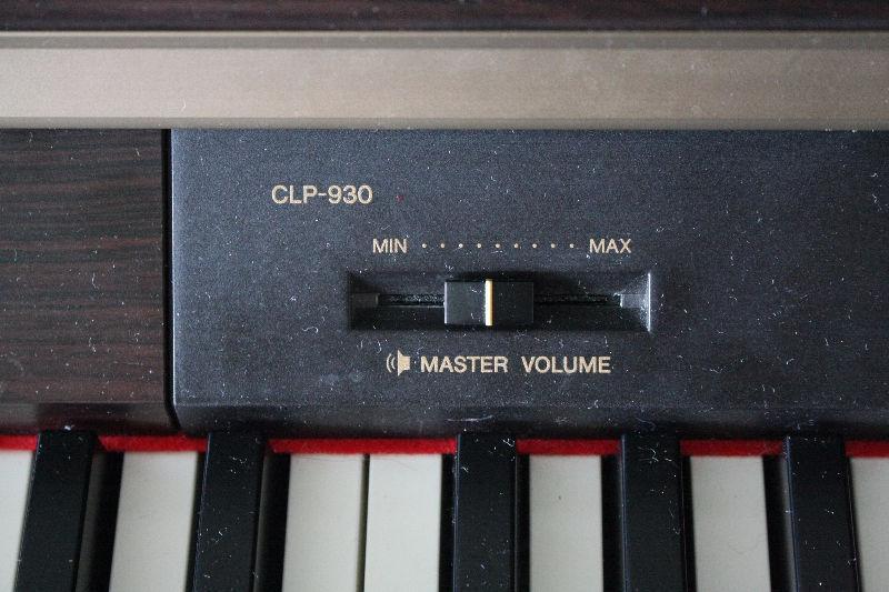 YAMAHA DIGITAL PIANO CLAVINOVA CLP 930: $ 550.00