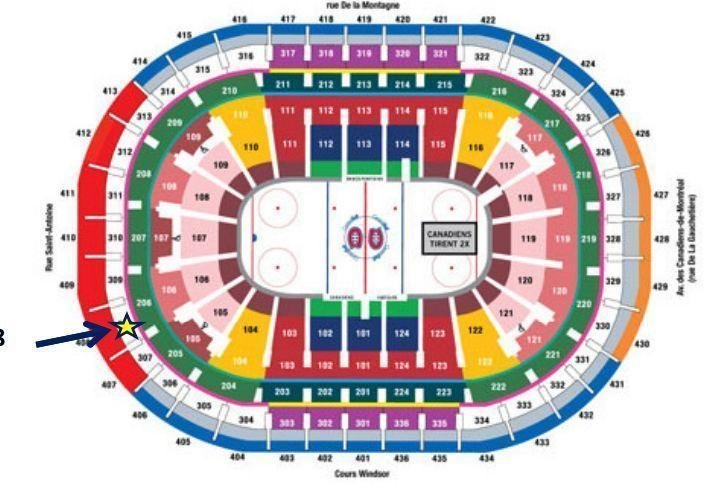 Billets Canadiens blancs - Habs tickets white