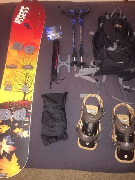Prior spilt board snowboard package