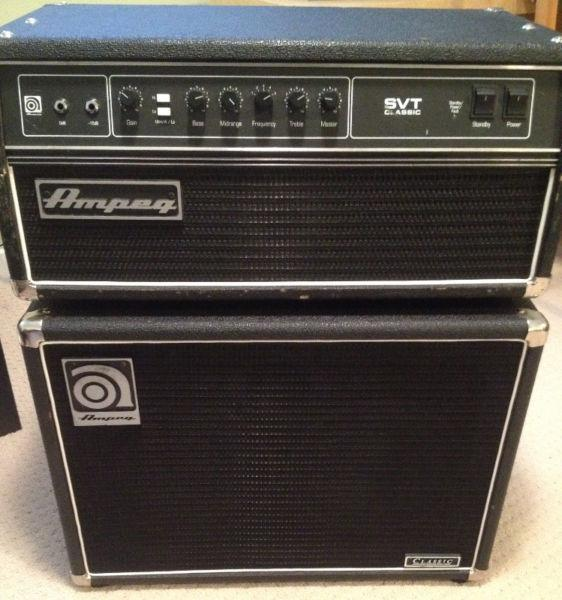 Ampeg SVT Classic Head Black Used + Cabinets