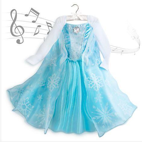 NEW Disney Frozen Elsa Musical Dress, Tiara, Shoes and Wig Set