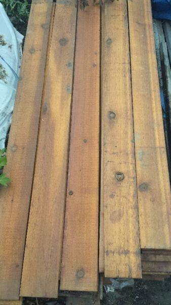 Stained Cedar Fence Boards