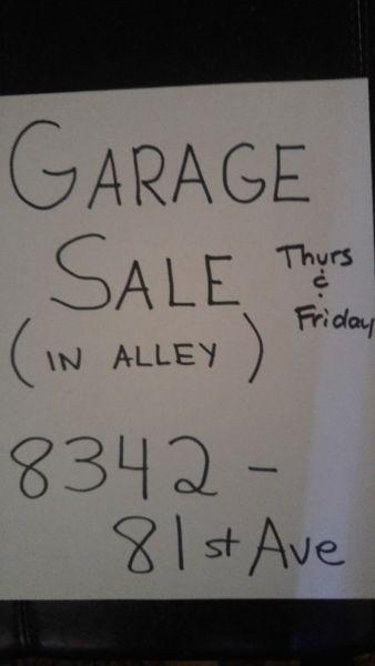 END OF SEASON GARAGE SALE